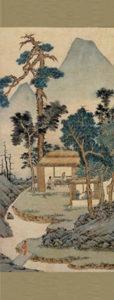 Retreat in Mountains, Wen Zhengming, 刘徵明山水画