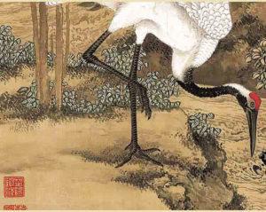 Crane under Pine Trees Foreboding Longevity, 松鹤延年